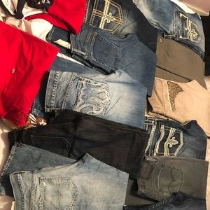 15 pairs of new used jeans